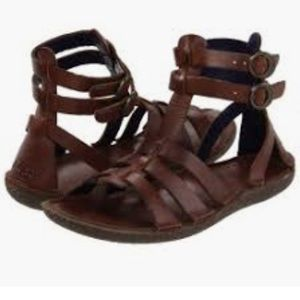 525c892243d Kickers Peplum 2 Leather Gladiator Sandals